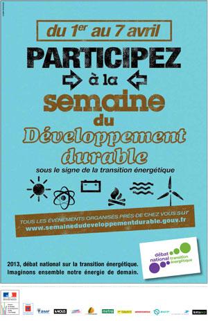 Semaine du développement durable Affiche environnement