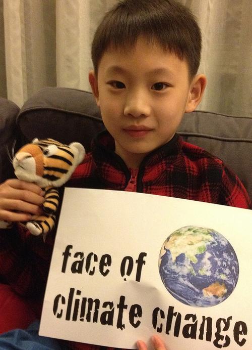 Les enfants impliquées pour la Journée de la Terre